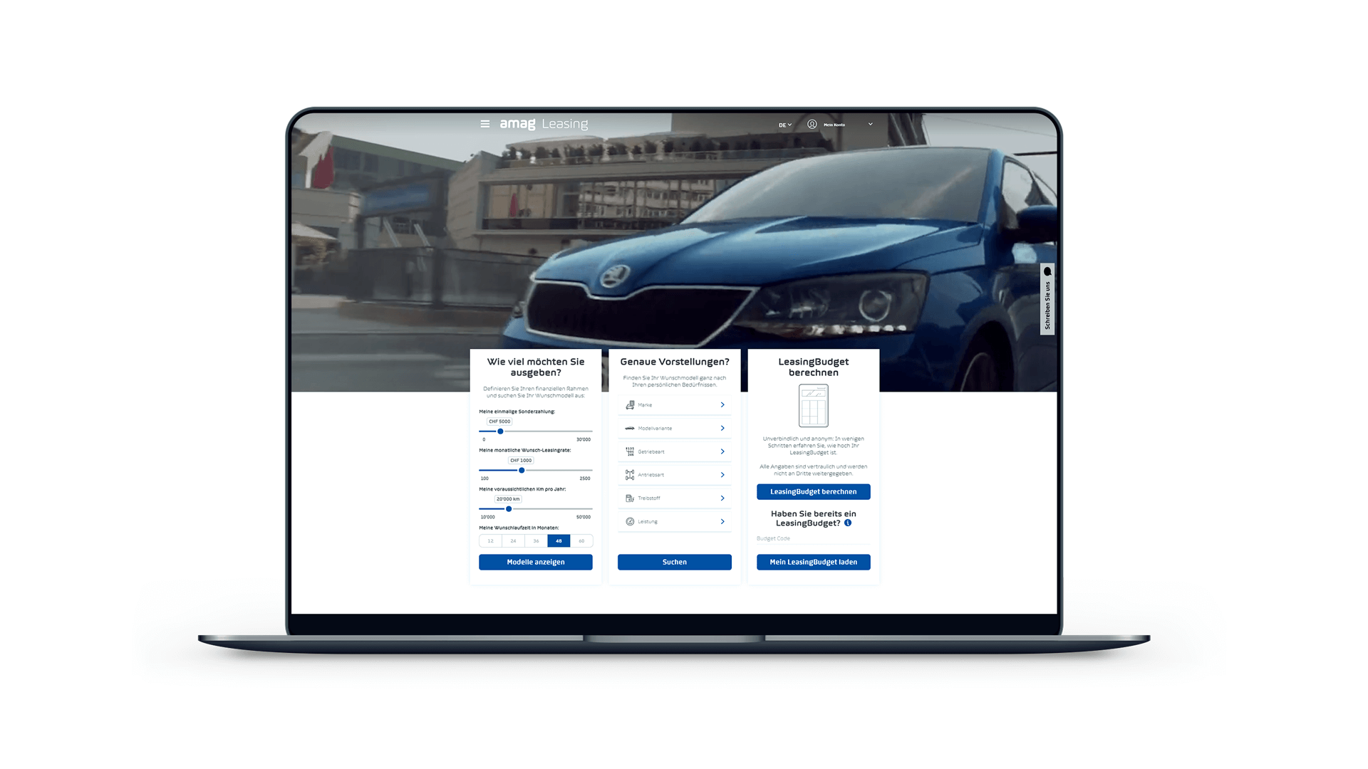 Leasing Portal on Macbook